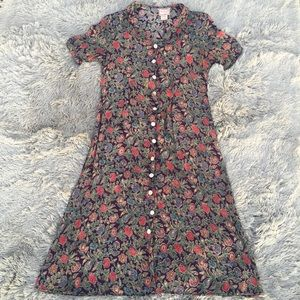 Vintage April Cornell Trading Collar Midi Dress